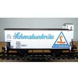 Märklin 4680,  wagon couvert à guérite Schwabenbräu DR  Neuf  BO