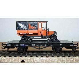 Märklin 46841,  wagon plat type X Erfurt + camion SAG Béru  DRG  BO