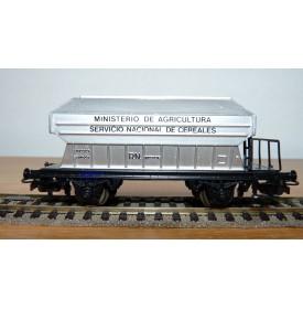 ELECTROTREN 1400, wagon trémie pour transport de céréales  RENFE BO