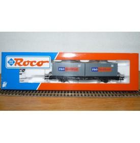 ROCO  47595, wagon  porte conteneurs P&O Nedlloyd DB  BO