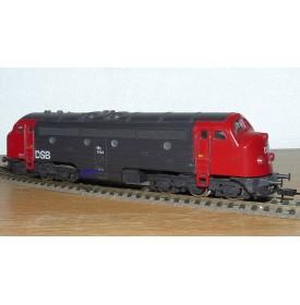 FLEISCHMANN 4273 . 1, loco diesel Co Co NOHAB série My  N° 1144  DSB BO