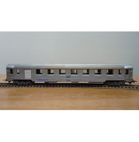 JOUEF  5593, voiture grandes lignes inox mixte 1 Cl./ fourgon type AGD  SNCF neuf BO
