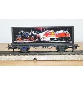 Märklin 99724 / 4481,  wagon plat porte conteneurs Mit Märklin ins neue Jahrtausend DB  BO