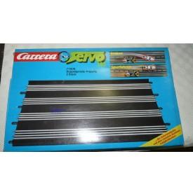 CARRERA Servo 140 77508 élément droit double à 4 pistes Neuf BO