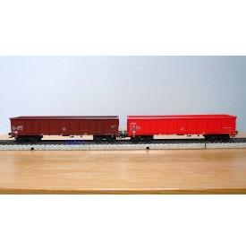 Märklin  47198, coffret 2 wagons tombereau Eanos SNCB BO
