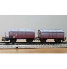 Märklin 46036, couplage de 2 wagons à toit ouvrant type K.K.15   DB
