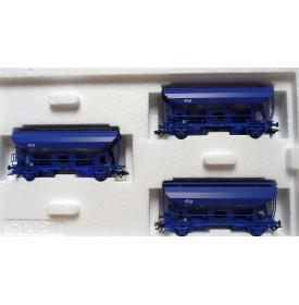 Märklin  46340, coffret 3 wagons trémie à déchargement automatique NS  BO
