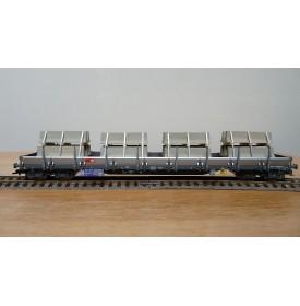 FLEISCHMANN  5287 8702 K,  wagon plat chargé plots de béton  type Res SBB  BO