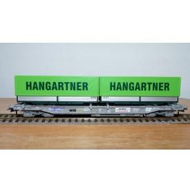 ROCO 66595, wagon poche HUPAC + 2 semi remorques  HANGARTNER   N°:83854754 592-4 SBB  Neuf  BO