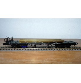 ROCO 46490, wagon plat ancien chargé de rails DB  BO