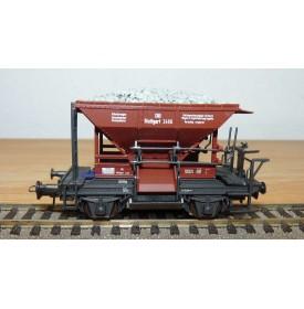 ROCO 46128 / 4334,  wagon trémie Talbot fonctionnel N°2406 :  DB  BO