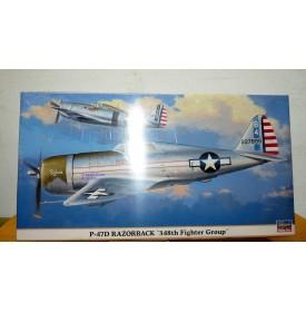 HASEGAWA 09615, REPUBLIC P-47D Thunderbolt Razorback 348th  Fighter Group 1/48  BO