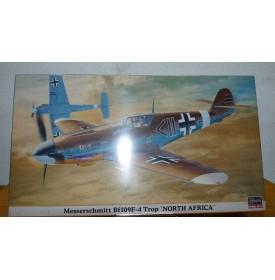 HASEGAWA 09459, MESSERSCHMITT Bf 109 F-4 Trop North Africa Neuf   1/48  BO