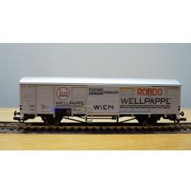 ROCO 46744, wagon couvert type Gbs RONDO Wellpape  ÖBB BO