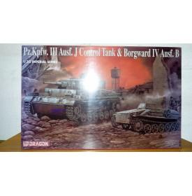 DRAGON 9054, char allemand  Pz. Kpfw. III Ausf. J Control Tank et chenillette Borgward IV Ausf. B Neuf  BO 1/35