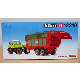 """KIBRI  """"echt """" 12210, Kit  MERCEDES BENZ UNIMOG et épandeuse à fumier KEMPER  Neuf  BO 1/87 HO"""
