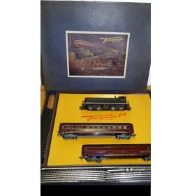 FLEISCHMANN  1340 2 , rare coffret américain 1340 S, 1420 et 1422 plus rails   BO
