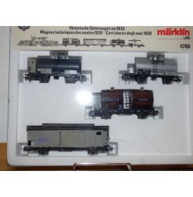 Märklin 4786,  coffret de 4 wagons Oldtimer der SBB  BO