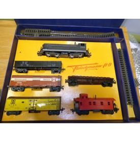 FLEISCHMANN  1340/5G, rare coffret américain 1340 S, 1420 et 1422 plus rails   BO