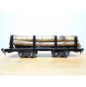 JEP  4698, wagon transport de bois chargé de grumes BO