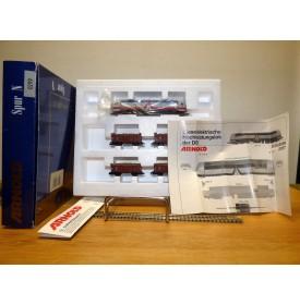 ARNOLD 0299, coffret locodiesel MAK et 4 wagons tombereau DB  Neuf BO
