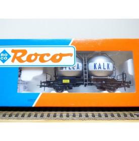 ROCO 47765, wagon  silos pour transport de chaux  HYLLA  KALK    NSB  Neuf  BO
