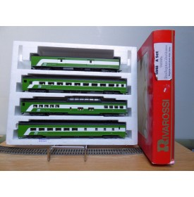 "RIVAROSSI ""véro"" 6948 set A, coffret 4 voitures smooth side Burlington Northern  Neuf BO"