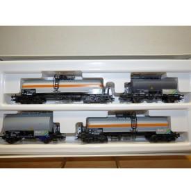 ROCO 44041 , set 4 wagons citernes BAYER  DB  Neuf BO
