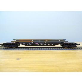 ROCO 47985,  wagon porteur multifonctions  type Sgjs 718  chargé de lingots d'acier DB AG  Neuf  BO