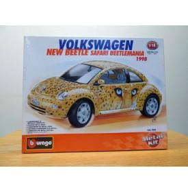 BURAGO 7094, Volkswagen New Beetle Safari Beetlemania 1998 Neuf  BO  1/18