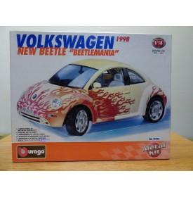BURAGO 70222, Volkswagen New Beetle Beetlemania 1998   Neuf  BO  1/18