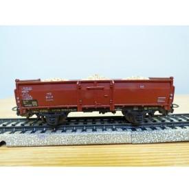 Märklin ancien  4603, 7 wagon tombereau chargé bois DB BO