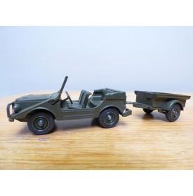 Solido 213,  Jeep Mercedes (Peugeot ) et remorque   Neuf   BO