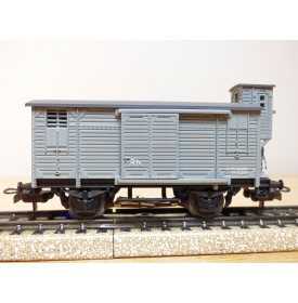 ELECTROTREN 855, wagon ancien couvert à guérite  RENFE BO