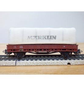Märklin ancien  313 / 3 ( 4609 ), wagon plat bâché  DB BO