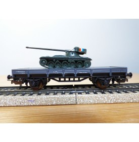 ELECTROTREN  1012, wagon plat chargé d' un char AMX 13   RENFE  BO