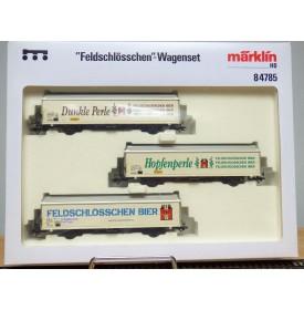Märklin  84785, coffret 3 wagons FELDSCHLÖSSCHEN  SBB  Neuf  BO