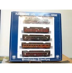 FLEISCHMANN  4898 , coffret train rapide Preussischer Schnellzug  KPEV    neuf  BO