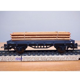 ELECTROTREN  1000/8, wagon plat chargé de planches  RENFE BO