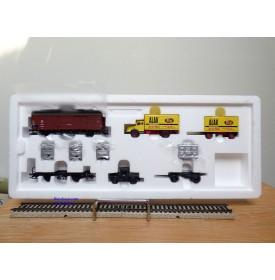 Märklin 48812, coffret  2 wagons et 2 camions Spangenberg-Werke  DR  neuf  BO BO