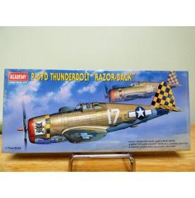ACADEMY 2175, chasseur américain  REPUBLIC P-47D THUNDERBOLT Razorback neuf  BO 1/72