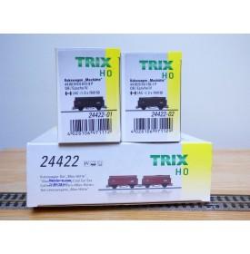 TRIX 24422, coffret 2 wagons tombereau à rehauusse transport de coke Max Hütte  DB   Neuf   BO