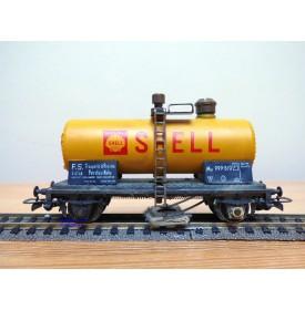 RIVAROSSI  2051, wagon citerne  nettoyeur de voie  SHELL  FS   BO