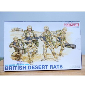 DRAGON 3013, figurines militaires anglaises British Desert Rats  1/35 NEUF