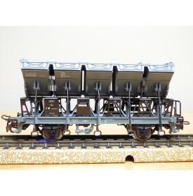 Märklin 4721, wagon à bennes basculantes ( Muldenkippwagen )  type F  CFL BO