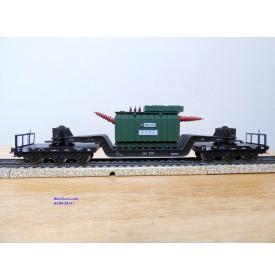 Märklin métal 4617 . 5, wagon surbaissé type SSI 53 Trafo Union  DB BO