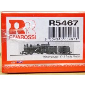 Rivarossi  véro R5467,  locomotive articulée Heisler N° 4  Weyerhaueser  Neuf   BO