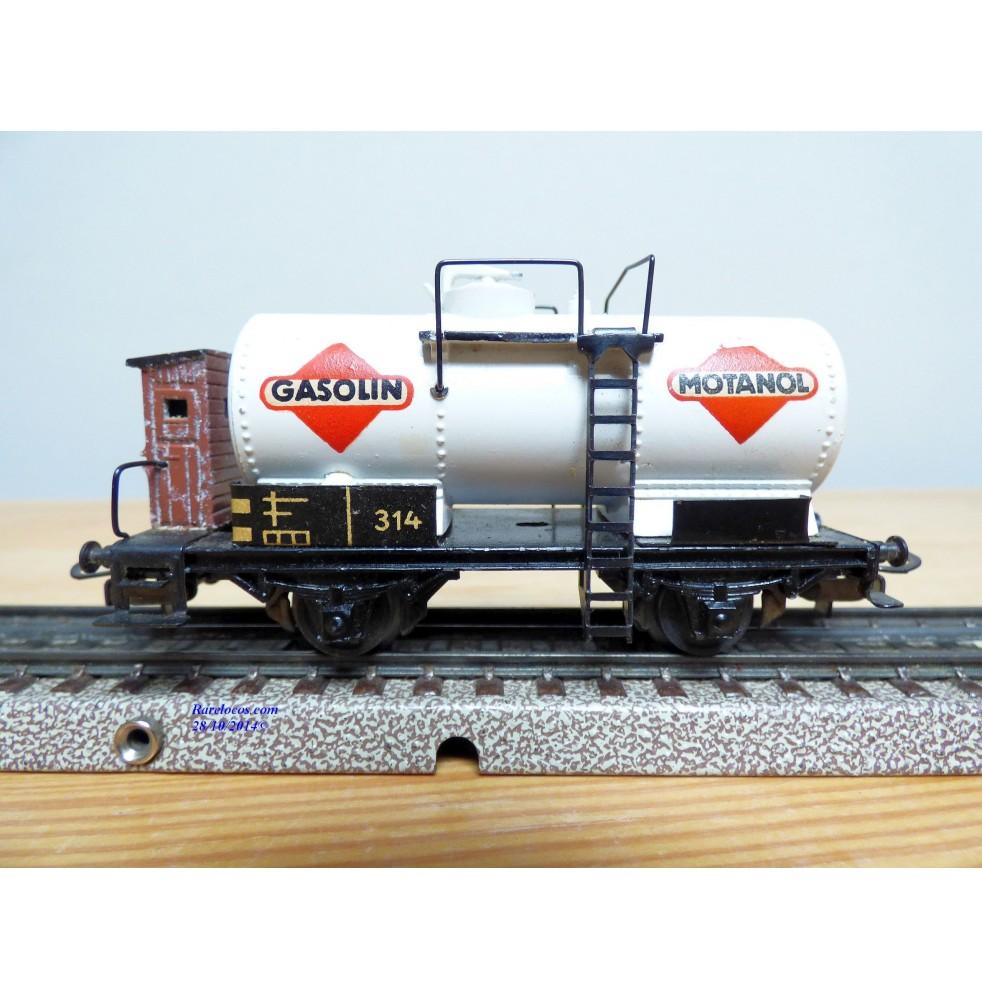 Marklin HO boîte d/'origine Wagon citerne à bogies Esso réf.4650