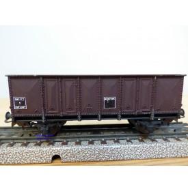 SMCF ???, wagon tombereau brun  à 2 essieux  type T  SNCF  BO
