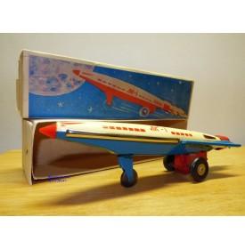 Fusée soviétique en tôle, moteur à friction, boîte d'origine